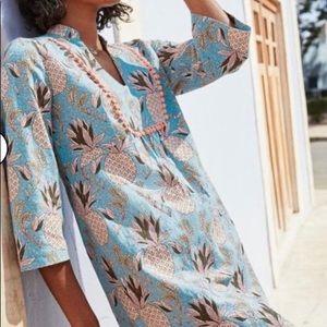 Boden Women Pineapple Prints Tunic Top